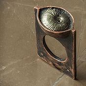 Украшения ручной работы. Ярмарка Мастеров - ручная работа Медное кольцо с аммонитом - Амон. Handmade.