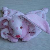 Куклы и игрушки ручной работы. Ярмарка Мастеров - ручная работа Комфортер Зайка моя- развивающая игрушка для новорожденных. Handmade.