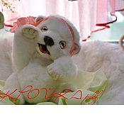 Материалы для творчества ручной работы. Ярмарка Мастеров - ручная работа ВЫКРОЙКА  БЕЛОГО МИШКИ. Handmade.