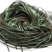 Материалы для творчества handmade. Livemaster - original item Kanitel soft smooth No. №2075 dark green 1 mm. Handmade.