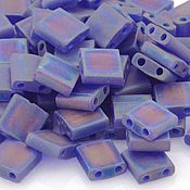 Материалы для творчества ручной работы. Ярмарка Мастеров - ручная работа Миюки ТИЛА 151FR transparent matte rainbow blueberry 10гр. Handmade.