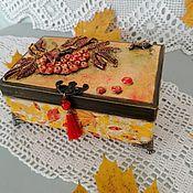 Для дома и интерьера handmade. Livemaster - original item Box Golden Autumn. Handmade.