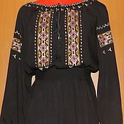 Одежда handmade. Livemaster - original item Women`s long embroidered dress ЖП4-98. Handmade.