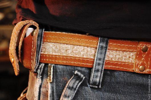 Мужские сумки ручной работы. Ярмарка Мастеров - ручная работа. Купить чехол для zippo,ремень.. Handmade. Коричневый, натуральная кожа