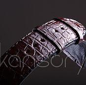 Украшения handmade. Livemaster - original item Watchband crocodile leather IMA0423VK4. Handmade.