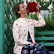 """Одежда ручной работы. Ярмарка Мастеров - ручная работа Кардиган """"В мечтах о розе"""".. Handmade."""