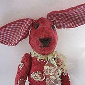 """Куклы и игрушки ручной работы. Ярмарка Мастеров - ручная работа Зайка """"Брусничка""""( зайка, плюш, игрушка. кролик). Handmade."""