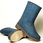 """Обувь ручной работы. Ярмарка Мастеров - ручная работа Валяные сапожки """"Джинсовые"""". Handmade."""