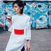 Одежда ручной работы. Ярмарка Мастеров - ручная работа Платье - кимоно из инновационной ткани. Handmade.