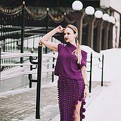 Одежда ручной работы. Ярмарка Мастеров - ручная работа женский вязаный костюм. Handmade.