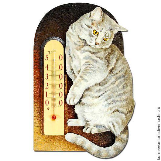 Подвески ручной работы. Ярмарка Мастеров - ручная работа. Купить Комнатный термометр «Котик #6». Handmade. Кот, кошечка