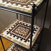 Для дома и интерьера handmade. Livemaster - original item Rack, bookcase with mosaic shelves