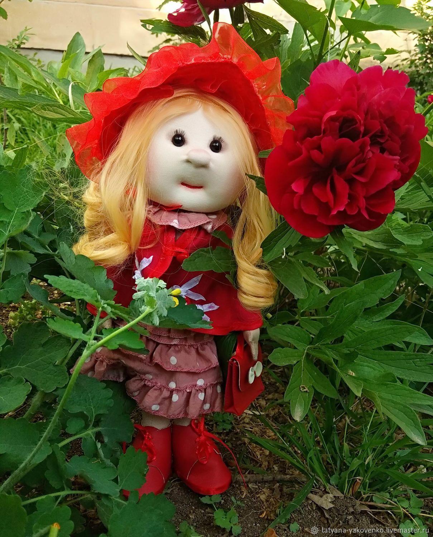 Кукла текстильная ручной работы в платье в горошек, Портретная кукла, Симферополь,  Фото №1