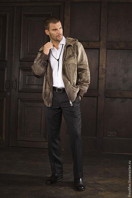 Верхняя одежда ручной работы. Ярмарка Мастеров - ручная работа. Купить куртка из каракульчи мужская. Handmade. Бежевый, мужская куртка