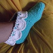 Обувь ручной работы. Ярмарка Мастеров - ручная работа тапочки-носочки домашние. Handmade.