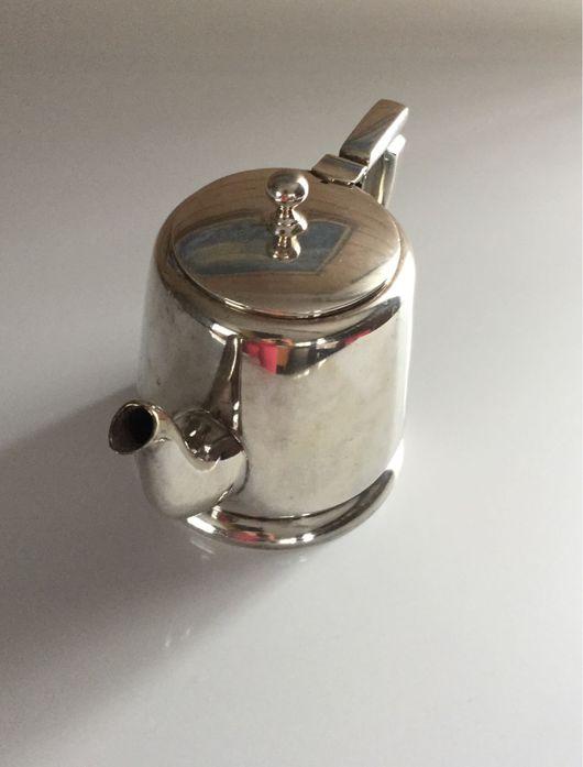 Винтажная посуда. Ярмарка Мастеров - ручная работа. Купить Винтажный чайник, серебрение EPNS, Англия, конец 1978г.. Handmade. Винтаж