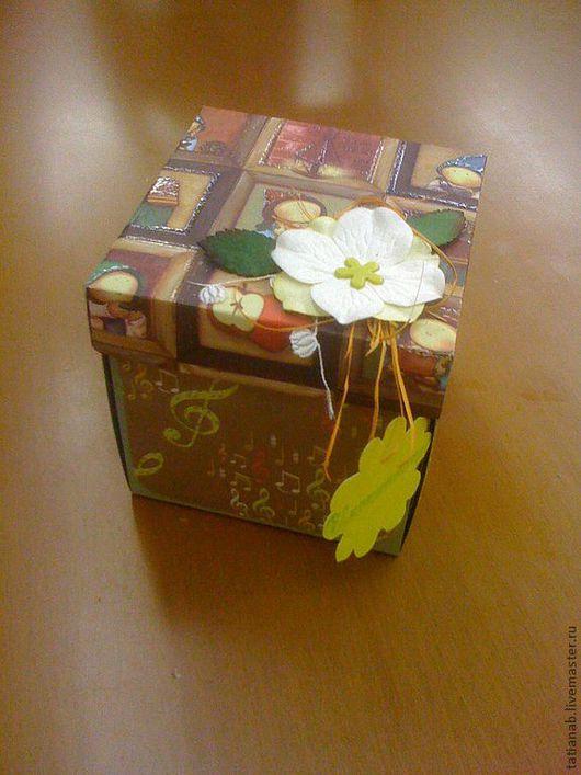 Персональные подарки ручной работы. Ярмарка Мастеров - ручная работа. Купить Коробочка для фотографий. Handmade. Скрапбукинг, коробочка, бумага дизайнерская