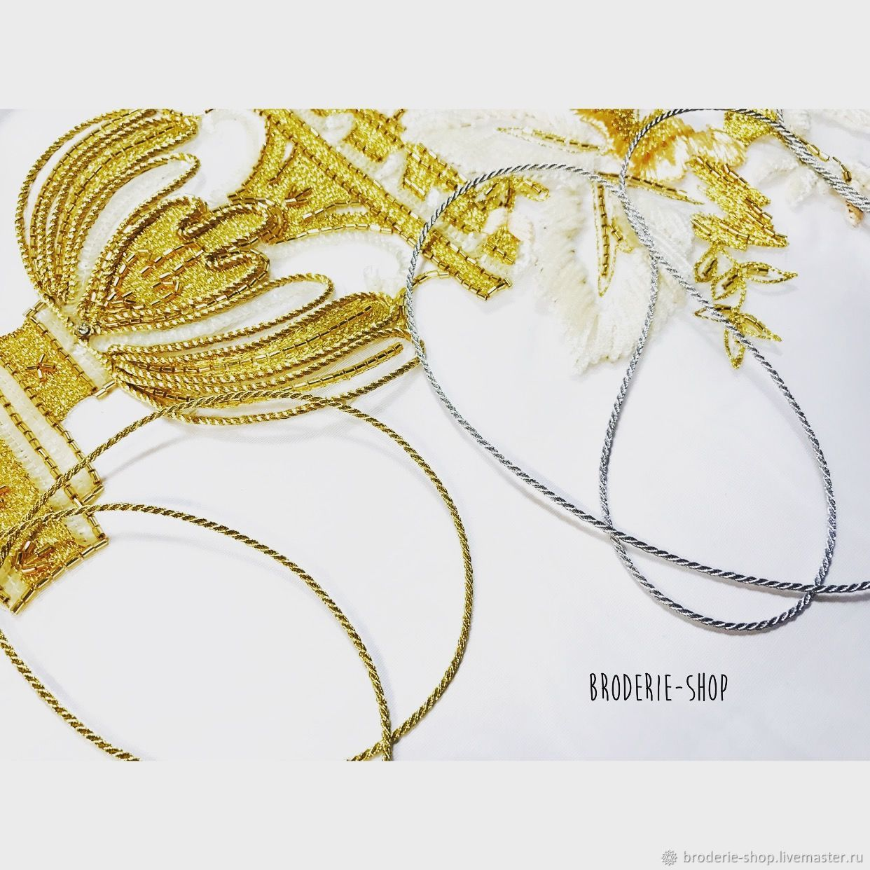 Metallic silver and gold cord . (from France), Cords, Moscow,  Фото №1