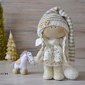 Куклы и игрушки ручной работы. Ярмарка Мастеров - ручная работа текстильная куколка Полинка. Handmade.