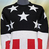 """Одежда ручной работы. Ярмарка Мастеров - ручная работа Тату-свитер - """"как у Кейта Флинта"""". Handmade."""