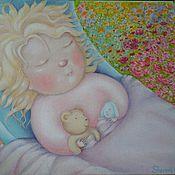 Картины и панно ручной работы. Ярмарка Мастеров - ручная работа Так спит счастье. Handmade.