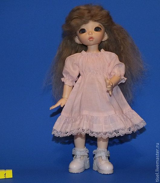 Одежда для кукол ручной работы. Ярмарка Мастеров - ручная работа. Купить Парик для БЖД куклы формата Литлфи размер 6-7. Handmade.