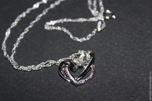 """Кулоны, подвески ручной работы. Ярмарка Мастеров - ручная работа. Купить Подвеска """"Сердце"""" с цепочкой (серебро 925 пр). Handmade."""