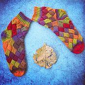 Обучающие материалы ручной работы. Ярмарка Мастеров - ручная работа Мастер-класс по вязанию носков в технике энтрелак. Handmade.