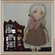 Коллекционные куклы ручной работы. Милана. Надежда Евсеева. Интернет-магазин Ярмарка Мастеров. Подарок, текстильная кукла, хлопок, синтепон