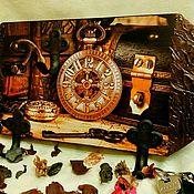 Для дома и интерьера handmade. Livemaster - original item Housekeeper-hanger Black gold. Handmade.