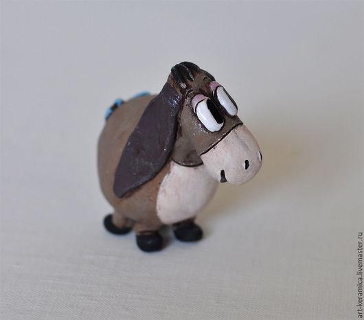 ослик иа  фигурка ослика  статуэтка осла керамический ослик  ослик из глины ИА