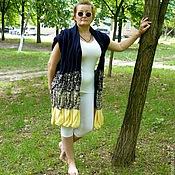 Одежда ручной работы. Ярмарка Мастеров - ручная работа Жилет с косами в стиле Лало, вязание спицами, полушерсть. Handmade.