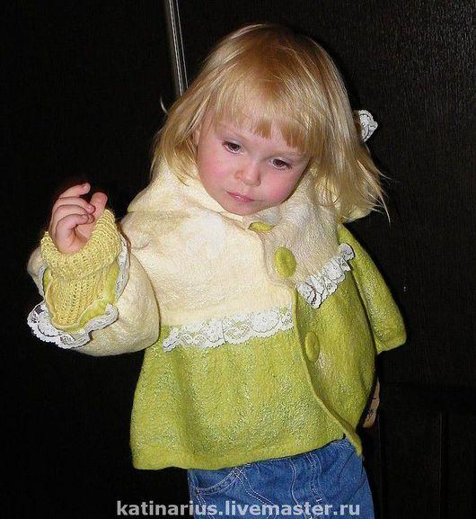 """Одежда для девочек, ручной работы. Ярмарка Мастеров - ручная работа. Купить Пальто  """"Воланчик"""" детское. Handmade. Детская одежда"""