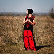 "Одежда handmade. Livemaster - original item ""Ruby"" Linen Skirt. Handmade."