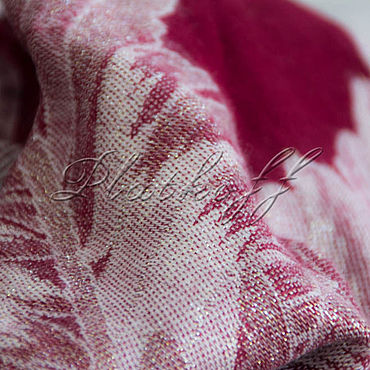 Accessories handmade. Livemaster - original item Shawls: Burgundy cashmere scarf from Gucci fabric