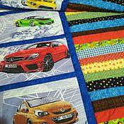 Для дома и интерьера ручной работы. Ярмарка Мастеров - ручная работа Детское лоскутное одеяло Bright cars. Handmade.