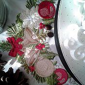 """Для дома и интерьера ручной работы. Ярмарка Мастеров - ручная работа """"Новогодний угловой узор"""" программа машинной вышивки. Handmade."""