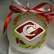 Подарки к праздникам handmade. Livemaster - original item Set of balls with a logo of Spartak. Handmade.