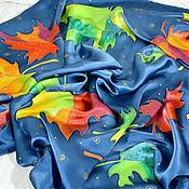 Аксессуары handmade. Livemaster - original item Silk scarf batik Bright autumn. Handmade.