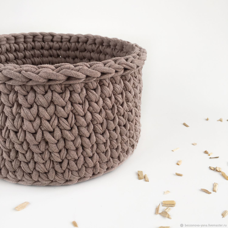 Knitted storage basket, Basket, Samara,  Фото №1