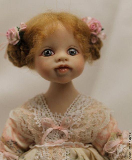 Коллекционные куклы ручной работы. Ярмарка Мастеров - ручная работа. Купить Куколка Кружево. Handmade. Бледно-розовый, трессы, хлопок