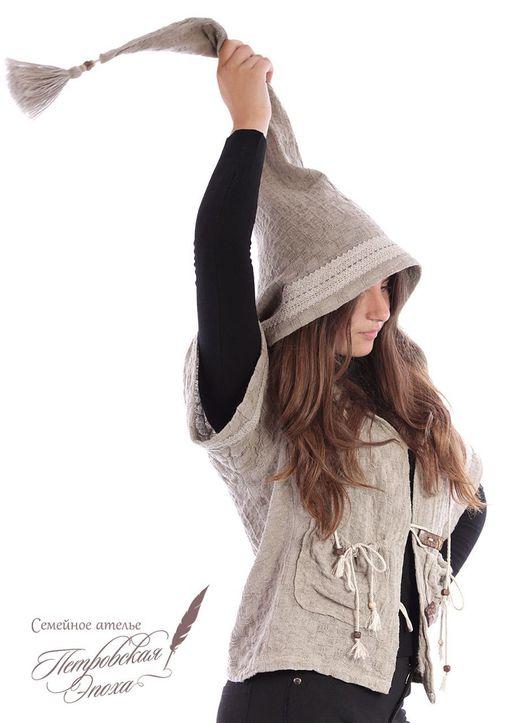 """Верхняя одежда ручной работы. Ярмарка Мастеров - ручная работа. Купить курточка из натурального льна ,,Любимый гном"""". Handmade."""