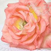 Цветы и флористика handmade. Livemaster - original item tea rose. cold porcelain.. Handmade.