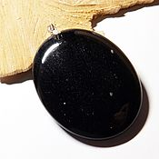 Украшения handmade. Livemaster - original item Pendant of obsidian Starry night. Handmade.