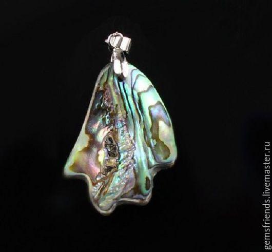 Кулоны, подвески ручной работы. Ярмарка Мастеров - ручная работа. Купить Абалон Пауа ( Галиотис) двухсторонняя подвеска 44 мм. Handmade.