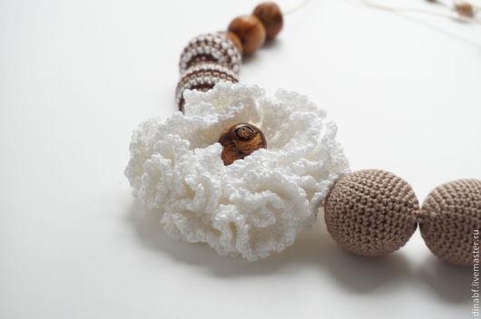 """Слингобусы ручной работы. Ярмарка Мастеров - ручная работа. Купить Слингобусы """"Белый цветок"""". Handmade. Бежевый, бежево-белый"""