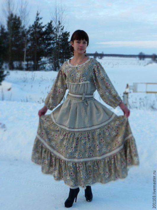 """Платья ручной работы. Ярмарка Мастеров - ручная работа. Купить Платье """"Анютки"""" с вышивкой и кружевом. Handmade. Комбинированный, Платье нарядное"""