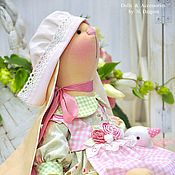 Куклы и игрушки ручной работы. Ярмарка Мастеров - ручная работа Зайка текстильная Abelia. Handmade.