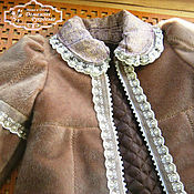 Работы для детей, ручной работы. Ярмарка Мастеров - ручная работа Меховое пальто в стиле Шебби. Handmade.