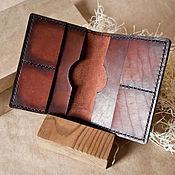 Канцелярские товары handmade. Livemaster - original item Leather wallet cover for documents. Handmade.